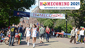 A photo of Homecoming on Academic Walk