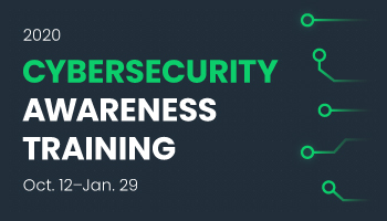 Cybersecurity Awareness Training Available Oct. 12–Jan. 29
